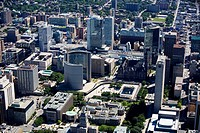 Aerial view of downtown Toronto with City Hall, Toronto, Ontario, Canada
