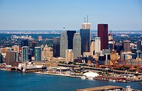 Toronto skyline and waterfront, Toronto, Ontario, Canada