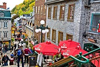 Rue Petit Champlain, Quebec City, Quebec, Canada