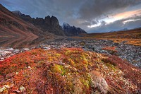Divide Lake and Mount Monolith in Tombstone Park, Yukon, Canada