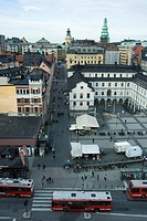 Sweden, Stockholm, Slussen, Rysstorget Square, elevated view