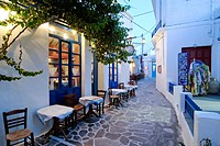 Alleyway in Plaka, Milos, Cyclades, Greece, Europe