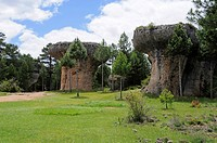 La ciudad encantada, the enchanted city, rock formation, erosion, natural monument, limestone landscape, Cuenca, Castile-La Mancha, Spain, Europe
