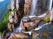 Pancava waterfall, Krkonose National Park, Giant Mountains National Park, Eastern Bohemia, Czech Republic, Europe