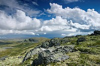 Landscape, cloud formation, Rondane National Park, Norway, Scandinavia, Northern Europe