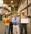 Group of warehouse workers