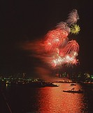Fireworks at Boston, Massachusetts, USA
