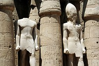 Statues of Ramesses IILuxor temple, Luxor city, Egypt