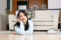 Young woman lying in the sofa (thumbnail)