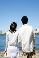 The back of young couple