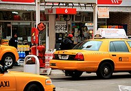 Gas station, Manhattan, New York City, USA