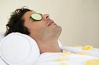 Man having facial treatment close_up