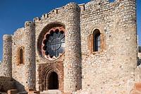 Castillo-convento de Calatrava la Nueva Iglesia Sede y noviciado de la Orden de Calatrava Aldea del rey, provincia de Ciudad Real, Castilla la Mancha,...