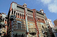 House Casa Vicenc, architect Antoni Gaudi, Barcelona, Catalonia, Spain