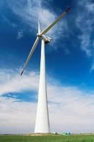 Wind turbine, Albacete province, Castilla la mancha, Spain