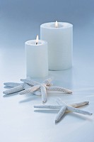 Starfish and candles