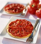 Thin pastry tomato tartlets