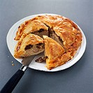 Veal and morel pie