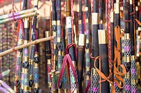 Dandiya sticks at a market stall