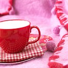 Red cup and cosy red plaid (thumbnail)
