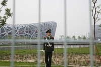 China. Beijing. Olympic Park. National Olympic Stadium, The Bird´s Nest.