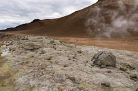 Hverir geothermal fields at the foot of Namafjall mountain, Myvatn lake area, Iceland