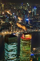 Shanghai and huangpu river at night