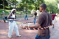 New York City, hoola hop lesson in Central Park