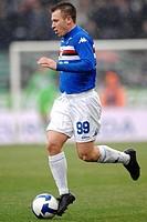 antonio cassano, genova 2009, serie a football championship 2008_2009 , sampdoria_milan
