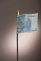 Euro banknote flags