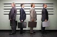 Businessmen in lineup