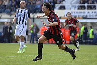 filippo inzaghi celebrating, siena 2009, serie a football cahmapionship 2008_2009, siena_milan