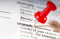 Thumb tack on word crunch