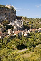 France, Midi Pyrenees, Lot, Rocamadour Pilgrimage site Located on St James of Compostela Way