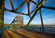 Chain of Rocks Bridge across Mississippi River, Route 66, Illinois-Missouri near St. Louis, USA