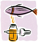 An illustration about fish oil