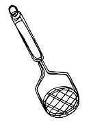A black and white illustration of a pot masher (thumbnail)