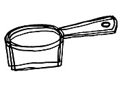 A black and white illustration of a pot (thumbnail)