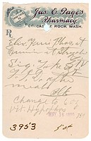 A vintage medical prescription
