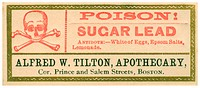 A vintage medical tincture warning poison label