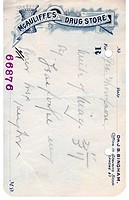 A vintage prescription from a drug store