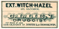 A vintage medical label