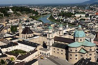 cathedral, Kapitelplatz, view from Hohensalzburg castle, old town Salzburg, Austria