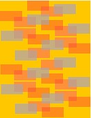 Orange and grey rectangles on an orange background