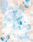 A blue and tan bubble burst pattern illustration