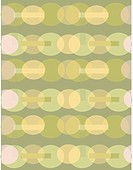 A green and olive retro oval pattern