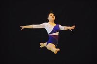 Japanese gymnast performing her floor exercise