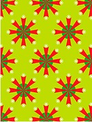 A retro green and red flowers pattern