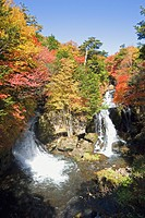 Crown Waterfall in Tochigi Prefecture, Japan
