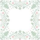 A decorative Christmas frame
